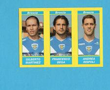 PANINI CALCIATORI 2009-2010-Figurina n.518-MARTINEZ+BEGA+RISPOLI-BRESCIA-NEW