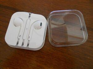 Genuine Apple Ear Buds iPod iPhone iPad Earphones with Case White
