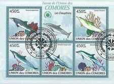 Timbres Faune marine Comores 1656/60 o année 2009 lot 19373 - cote : 16 €