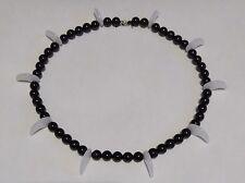 Inuyasha Necklace (Black Onyx / White Jade) Inuyasha's Nenju Rosary Inu-Yasha