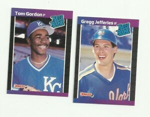 1989 Donruss 2 Rated Rookie Baseball Card Lot - Gordon & Jefferies