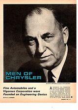 1967 MEN OF CHRYSLER / WALTER P CHRYSLER  -  NICE ORIGINAL 7-PAGE ARTICLE