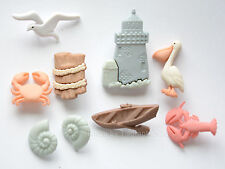 Ocean View / Nautical Buttons ~ Jesse James / Lighthouse ~ Lobster ~ Pelican