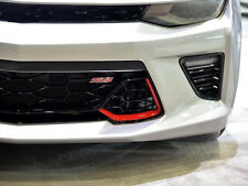 1x OEM Grille SS Emblem Front Badge 3D For Camaro Chevrolet GM series Red YU