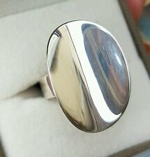 New!Taxco traditions concave oval ring sterling silver,size k,QVC