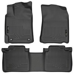 Husky Liners Weatherbeater Black Car Floor Mat Carpet For Toyota 2012-2017 Camry