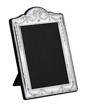 """CARRS - Sterling Silver Photo Frame Swag & Bow design Velvet Back - 5"""" x 3 1/2"""""""