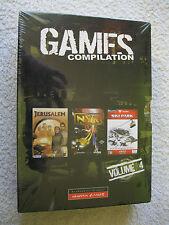 Games Compilation Volume 4 3 PC CD Rom Spiel Jerusalem NYR Ski Park Neu OVP