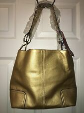 New Tosca Handbag, Purse Bucket Style Shoulder Bag Leather Look, 640 Color Gold
