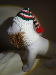 Dog clothes hat sound reduction fireworks handmade elf beard dachshund