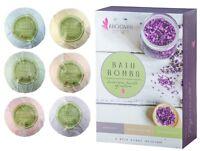 Luxury Bath Bombs Gift Set 6-XXL Natural Organic Lush Aromatherapy Bath Fizzies