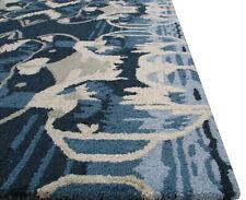 Handmade Transitional Blue Multi Wool Area Rug 8' x 10'