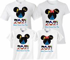 Mickey Minnie New Disney Family Vacation 2021 T-Shirts With Custom Names
