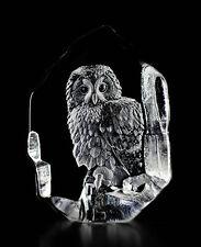 Mats Jonasson Crystal Tawny Owl Sculpture/Statue/Figurine 33602- Brand New!