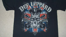 2-Sided DEF LEPPARD Rock of Ages Concert T-Shirt Size MED fits like a LARGE 2012