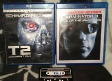 Terminator 2 Judgment Day Skynet Edt. & Terminator 3 SCHWARZENEGGER Blu-Ray Lot