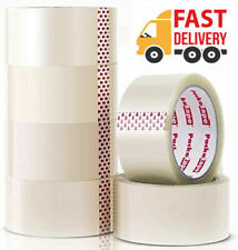More details for clear strong parcel packing tape cartoon sealing 48mm x 66m sellotape packaging