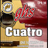GHS Strings CPR-10 Silver Wound Cuatro Puerto Rico String Set - Ball End