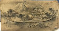 Vintage Antique Hand Illustrated Coin Purse - Tibet or China Scene. Beautiful!