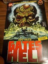 Gates of Hell Movie POSTER AUTOGRAPHED Lucio Fulci Eibon Press Italian Horror 78