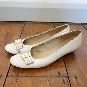 Salvatore Ferragamo Ladies  Leather Pumps Shoes UK 4 White