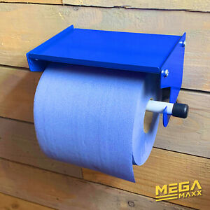 MegaMaxx UK™ Blue Roll Holder & Paper Towel Dispenser for Workshops Factories
