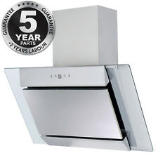 SIA AGL71SS 70cm Angled Stainless Steel Chimney Cooker Hood Kitchen Extractor