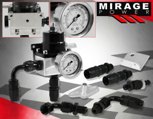 For Subaru Mitsubishi Heavy Duty Fuel Pressure Regulator 6An + Gauge + Fittings