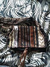 MALI PARMI Brown Ribbon Embellished Bag