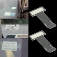 2 x Car Vehicle Parking Ticket Permit Holder Clip Sticker Windscreen Window Kit