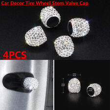 4PCS Anti-Rust Bling Diamond Car Decor Tire Wheel Stem Valve Cap Cover Universal