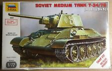 ZVEZDA 5001 - SOVIET MEDIUM TANK T-34/76 (mod. 1943) - 1/72 PLASTIC KIT