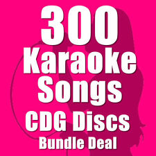 Karaoke Disc Set Bundle CDG CD+G Chart Hits 300 Top Chart Hits 16 Disc Set E