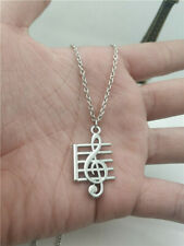 Music notes silver Necklace pendants fashion creative gifts jewelry accessory