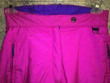 SKYR hot pink ladies 12 snow ski snowboard pants snowpant zipper front nylon GC