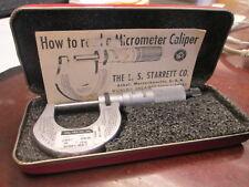 "Starrett Products No.230 Mechanical Micrometer 0-1"" Range W/Friction Thimble"