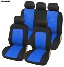 Fiat Lancia Coprisidili Blu e Nero Fodere Salva Sedili Universali Bicolore Set