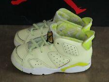 Nike Air Jordan Shoes VI 6 Retro Citron Tint Dynamic Yellow 645127-800 Size 8c