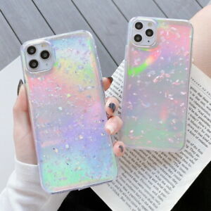 For iPhone SE 2020 11 Pro Max XR XS X 7 8 Plus Glitter Laser Soft Gel Case Cover