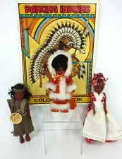 Vintage Native American Indian Dolls Carlson Ethnic & Coloring Book Lot of 4