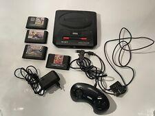 Sega Mega Drive 2 Konsole + 4 Spiele und Controller Und Alle Kabel