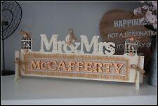 Onorevole & MRS matrimonio segno signor e la signora TAVOLO PLACCA regalo tutti i colori personalizzati
