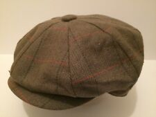 MENS RETRO STYLE GREEN FLECK PEACH BAKER BOY CAP NEWSBOY 8-PIECE PEAK HAT