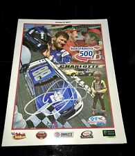 DALE EARNHARDT JR autograph signed October 2017 Final Charlotte race program JSA