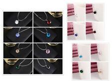 unsichtbare Halskette Nylonkette schwebend Zirkonia Perle Stein Klar türkis rosa