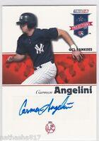 2008 TRISTAR PROjections #2 Carmen Angelini New York Yankees Auto Baseball Card