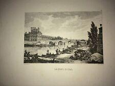 PARIS ( LE PONT ROYAL )LITHOGRAPHIE XIXe