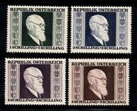 Austria 1946 Mi. 772-775 A MNH 100% Karl Renner
