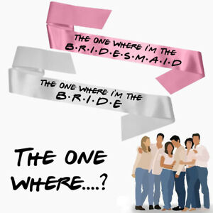 Personalised Friends Theme Bride To Be Hen Party Rhinestone Satin Sash