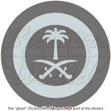 "SAUDI ARABIA AirForce LowVis Aircraft Roundel 100mm (4"") Vinyl Sticker Decal"